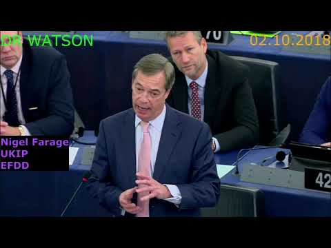 02.10.2018–FARAGE DEMOLISHES EU| VERHOFSTADT GETS NASTY RE: EUSSR| SOROS MEPs PANIC | #NotOnMSM