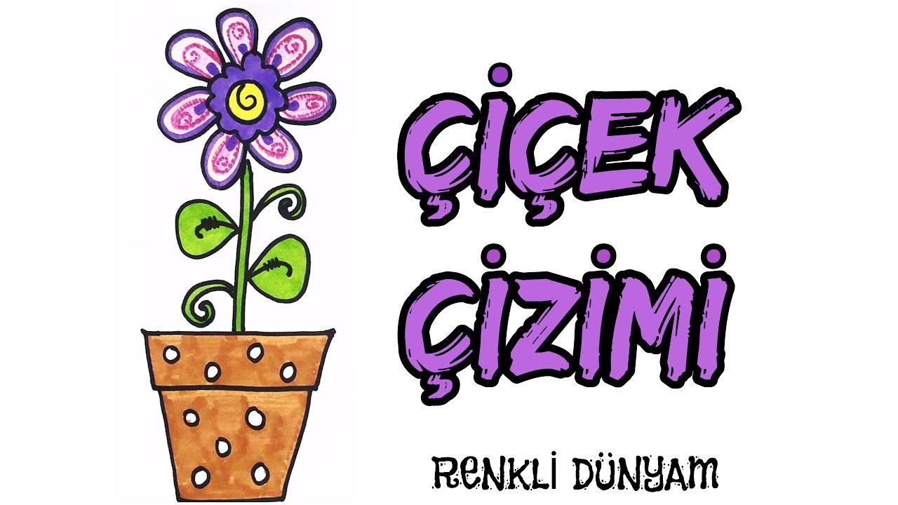 Saksida Cicek Nasil Cizilir Cicek Cizimi How To Draw A Flower