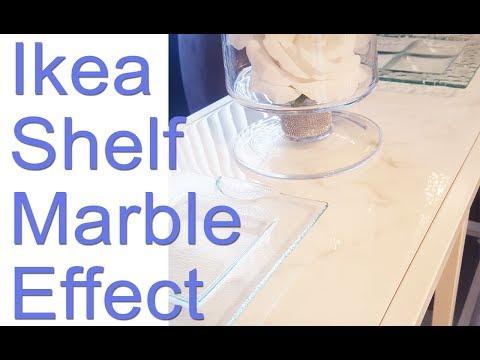 DIY: IKEA SHELF MARBLE EFFECT USING EPOXY