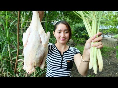 Yummy Chicken Stir Fried Lemongrass stalk Recipe – Yummy Chicken Spicy Cooking – Cooking With Sros