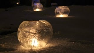 Ice Globes and Ice Luminaries, fun with ice