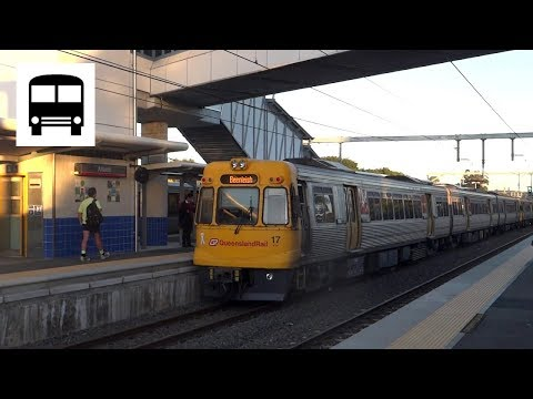 Queensland Rail Electric Multiple Unit 000 series - Arriving Altandi Station