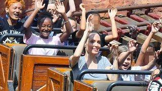 Angelina Jolie, Kids Visit Disneyland for Shiloh's Birthday