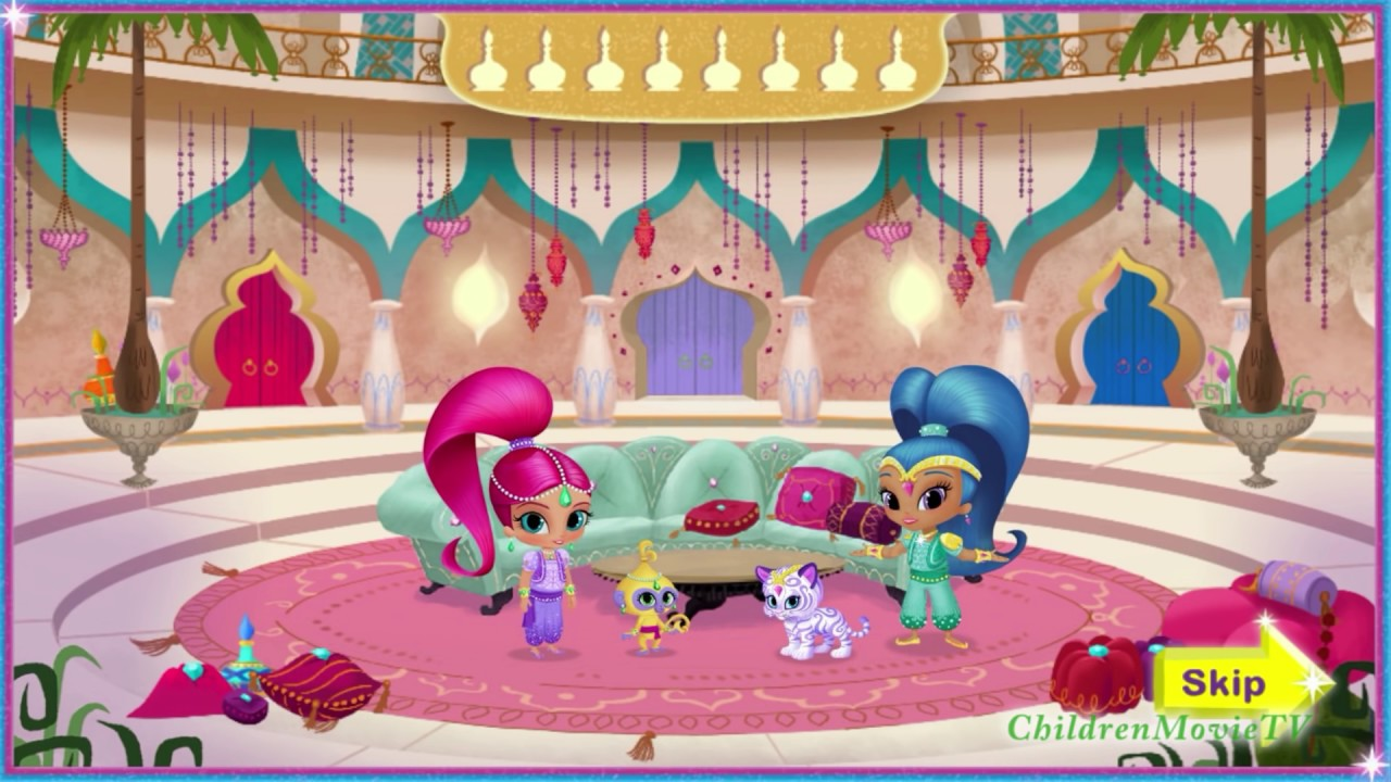 Nick jr summer coloring pages - New Nick Jr Game Shimmer And Shine Genie Palace Divine Full Hd Video For Little Kids Youtube