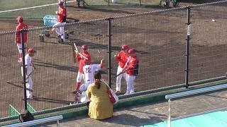 広島カープ 秋期キャンプ 初日 中村選手基礎練習  2019年11月02日