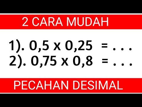 2 Cara Perkalian Pecahan Desimal || Trik Mudah