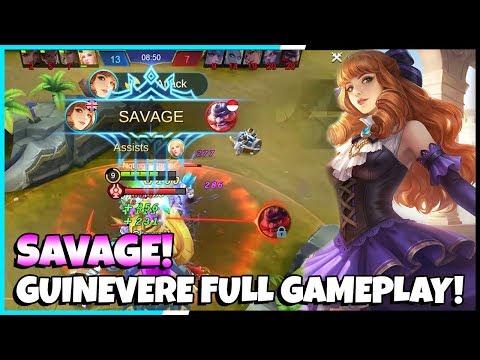 New Hero Guinevere Savage Gameplay! 15-4-7 KDA!   Mobile Legends - Gameplay!   MLBB