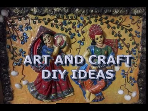 diy home decore ideas indian handicraft items for decoration youtube