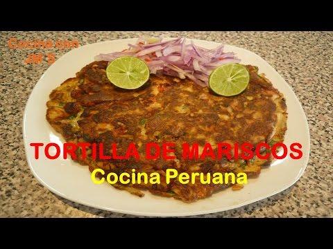 Tortilla de mariscos recetas cocina peruana youtube for Cocina peruana de vanguardia