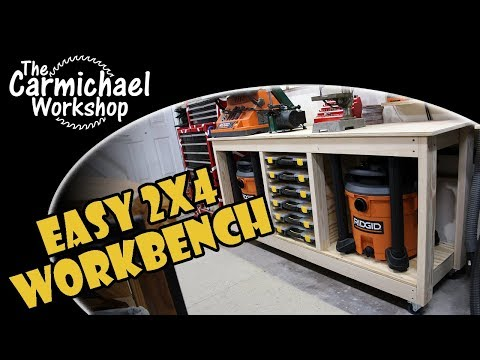Easy 2x4 Workbench - A Simple Woodworking Shop Project