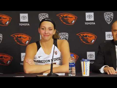 Oregon State Beavers - Beavers improve to 13-0 demolishing Utah 77-48 in Pac-12 opener!