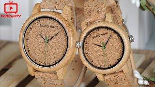 Деревянные наручные часы BOBO BIRD (A15, M11, M12) - обзор часов из бамбука с Алиэкспресс