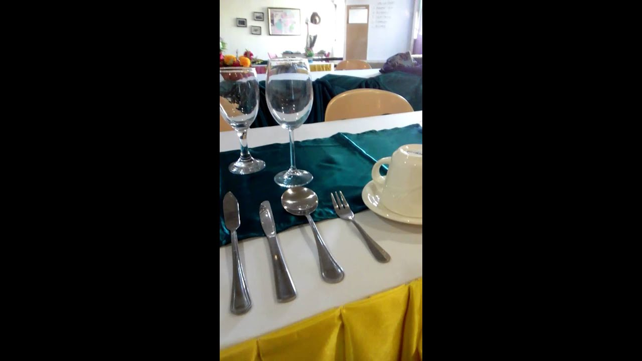 Russian Table Set Up ( F&B service Nc2 ) - YouTube