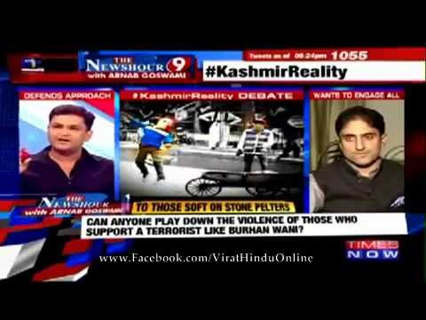 [MUST WATCH] Major Gaurav Arya thrashes J&K NC spokesman Junaid Mattu on Times Now Debate !!