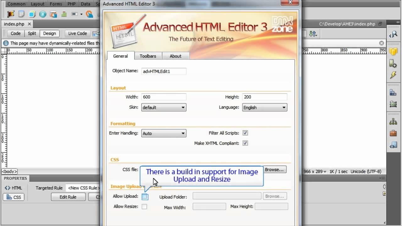 Advanced html editor 3 main features overview