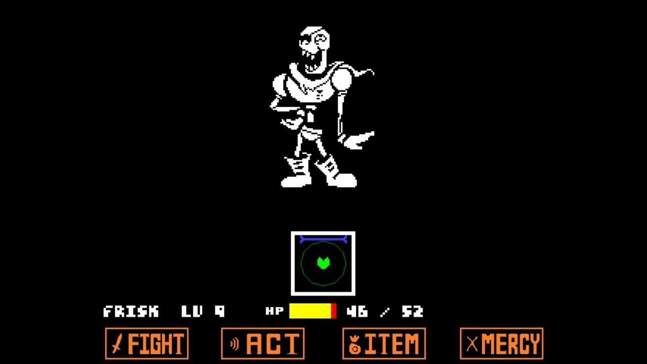 Unitale Hardmode Genocide Papyrus戦(undertale fangame ...