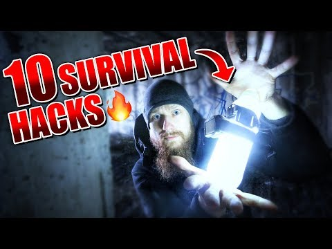 10 SURVIVAL HACKS - Outdoor Bushcraft Camping Life Hacks | Fritz Meinecke
