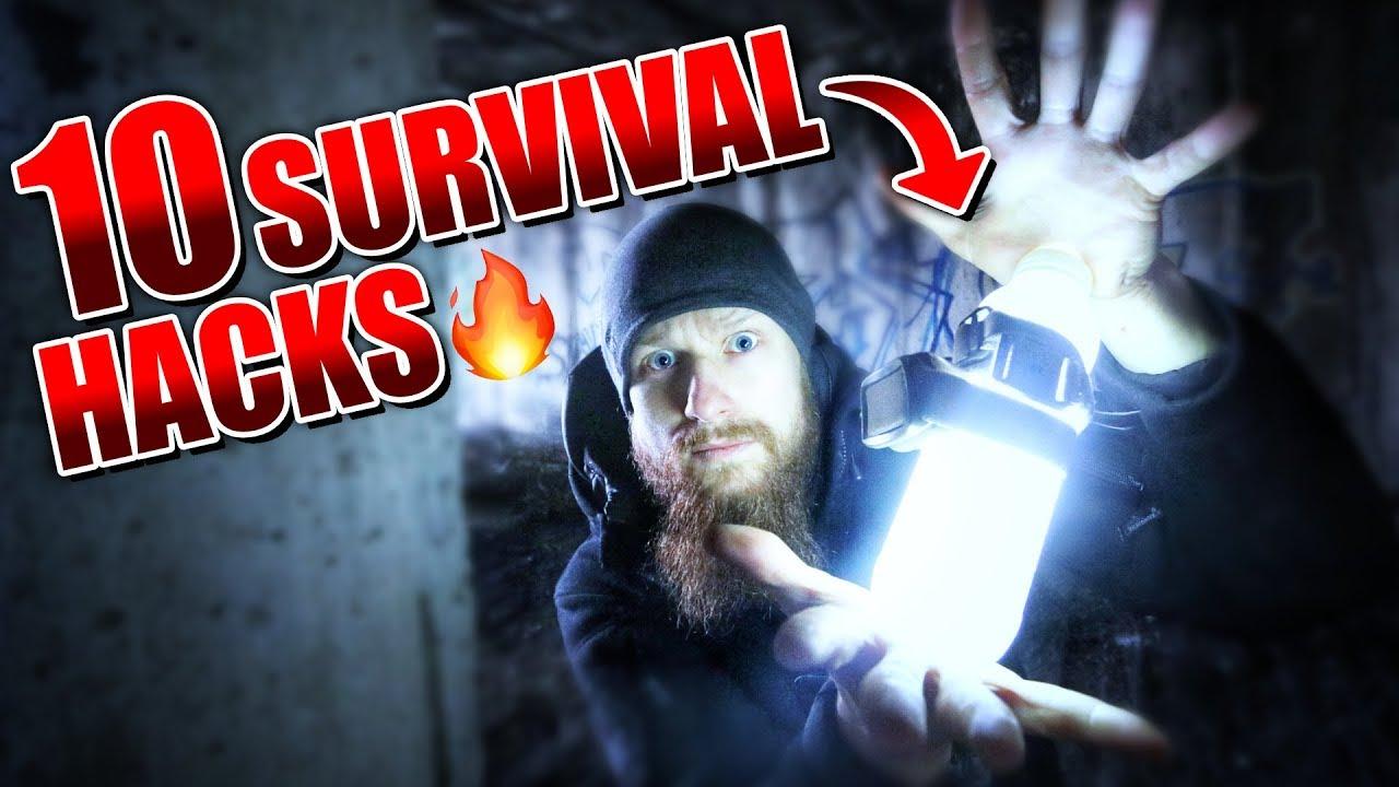 10 SURVIVAL HACKS - Outdoor Bushcraft Camping Life Hacks | Fritz Meinecke