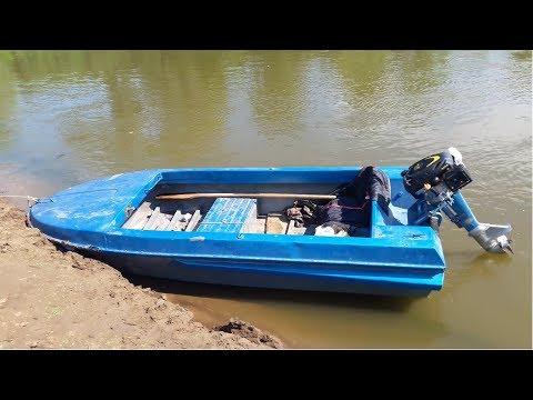 Champion G225VK  Обзор  Гибрид Ветерок+ лодка Неман 1