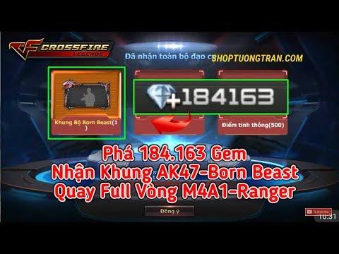 CF Legends | Phá 184.163 Gem Quay Full Vòng VIP Nhận Khung AK47-Born Beast | Tường Trần CFM
