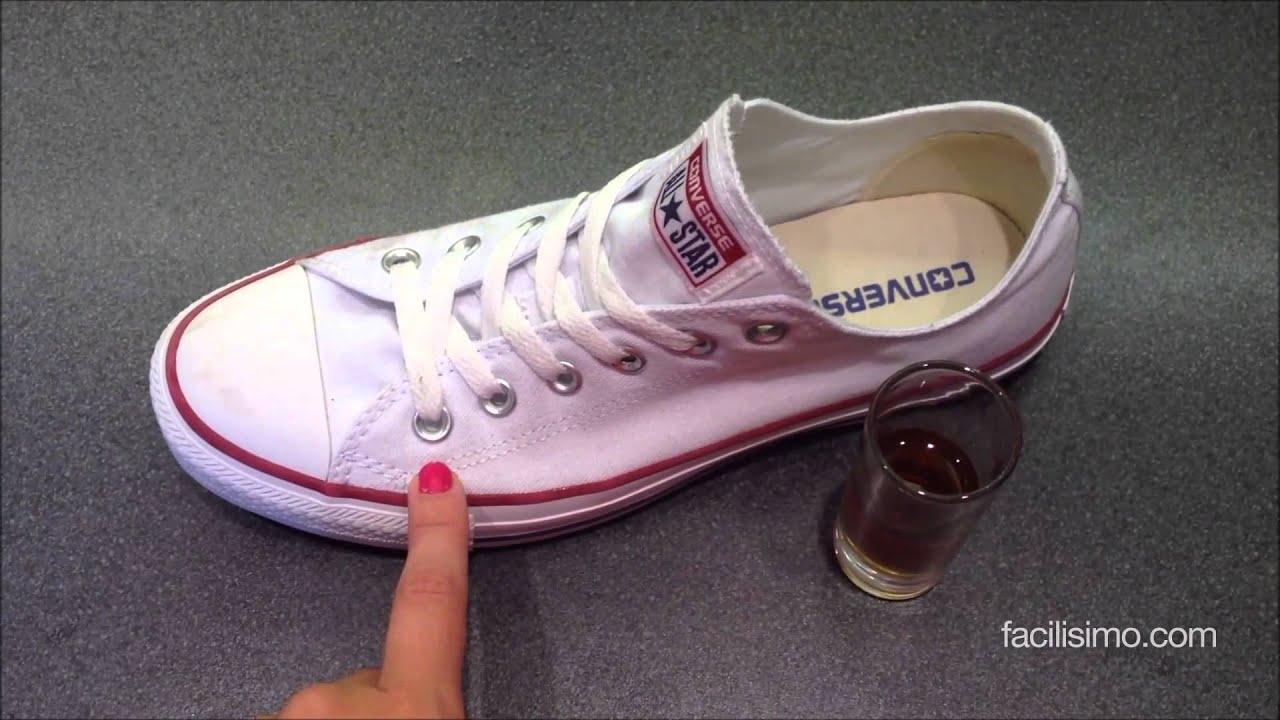 C mo blanquear zapatillas de deporte for Como desmanchar el marmol blanco