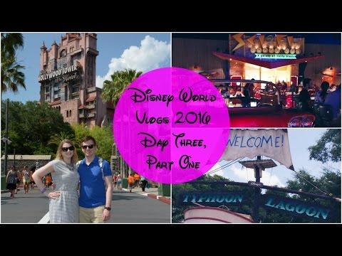 Disney World Vlogs 2016   Day Three, Part One - Typhoon Lagoon, Hollywood Studios & Sci-Fi Diner
