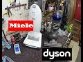 Dyson ball  animal-2 VS Miele U1 Can&Dog  Upright vacuum Particle Pounter Test