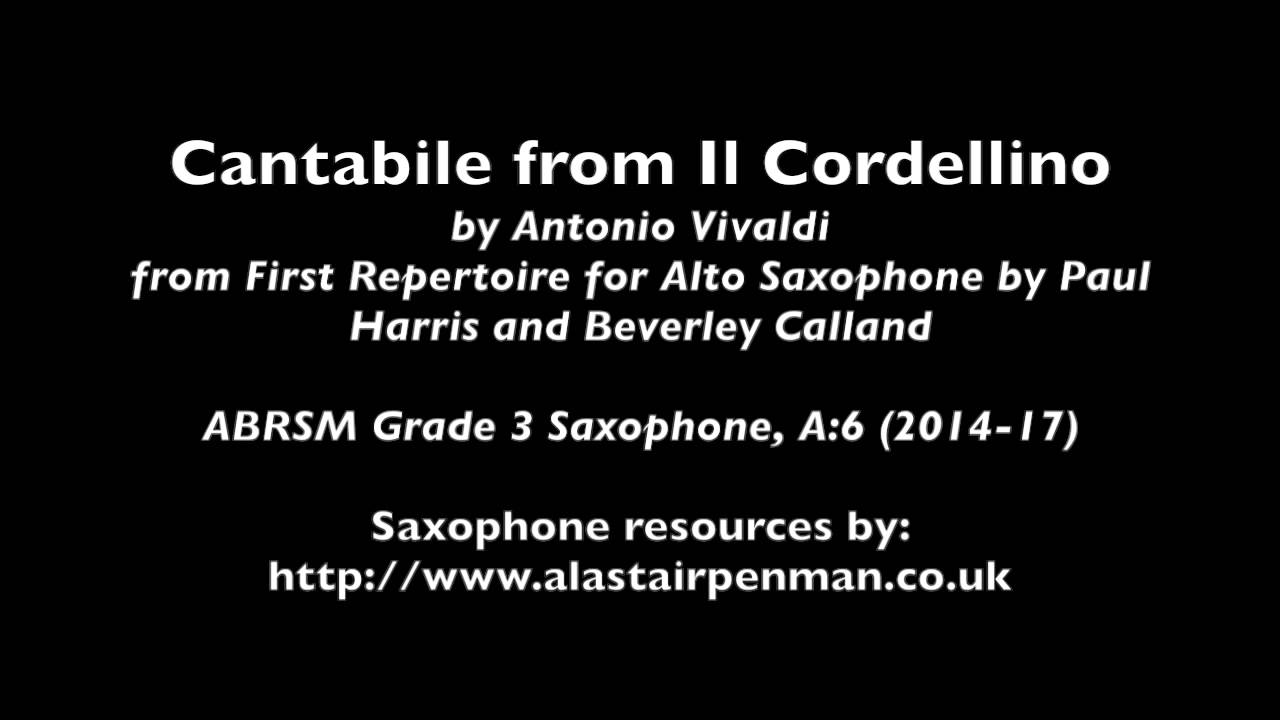 Cantabile From Il Cordellino From First Repertoire For Alto