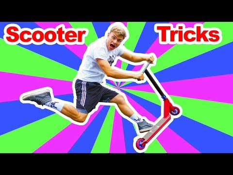 LEARNING SCOOTER TRICKS!!
