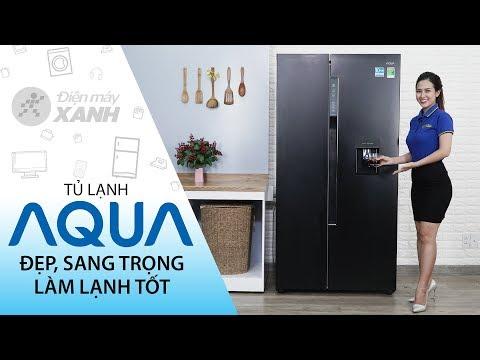 Tủ lạnh Aqua: đẹp, chứa nhiều đồ, làm lạnh hiệu quả, giá ổn (AQR-I565AS BS)   Điện máy XANH