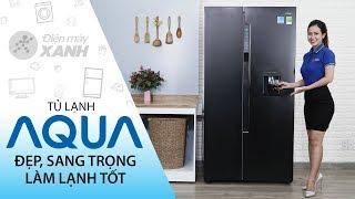 Tủ lạnh Aqua: đẹp, chứa nhiều đồ, làm lạnh hiệu quả, giá ổn (AQR-I565AS BS)