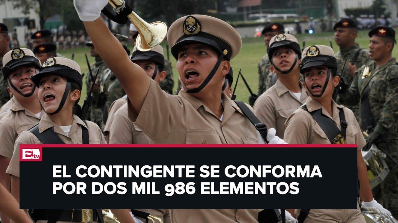 Marina Alista Participación En Desfile Militar Del 16 De Septiembre