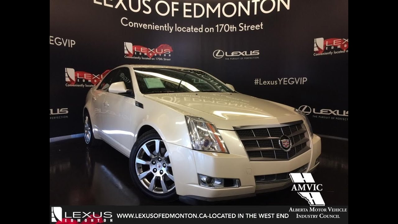 Used 2009 White Cadillac Cts Awd W 1sb Walkronud Review Morinville Alberta