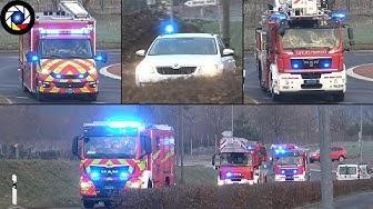 Convoi Pompiers + Police - Départ Incendie