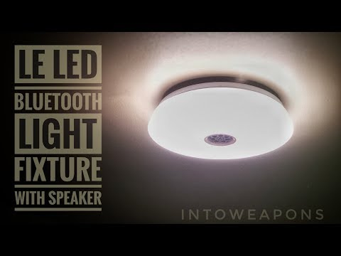 LED Ceiling Light with Bluetooth Speaker:  Install & Review