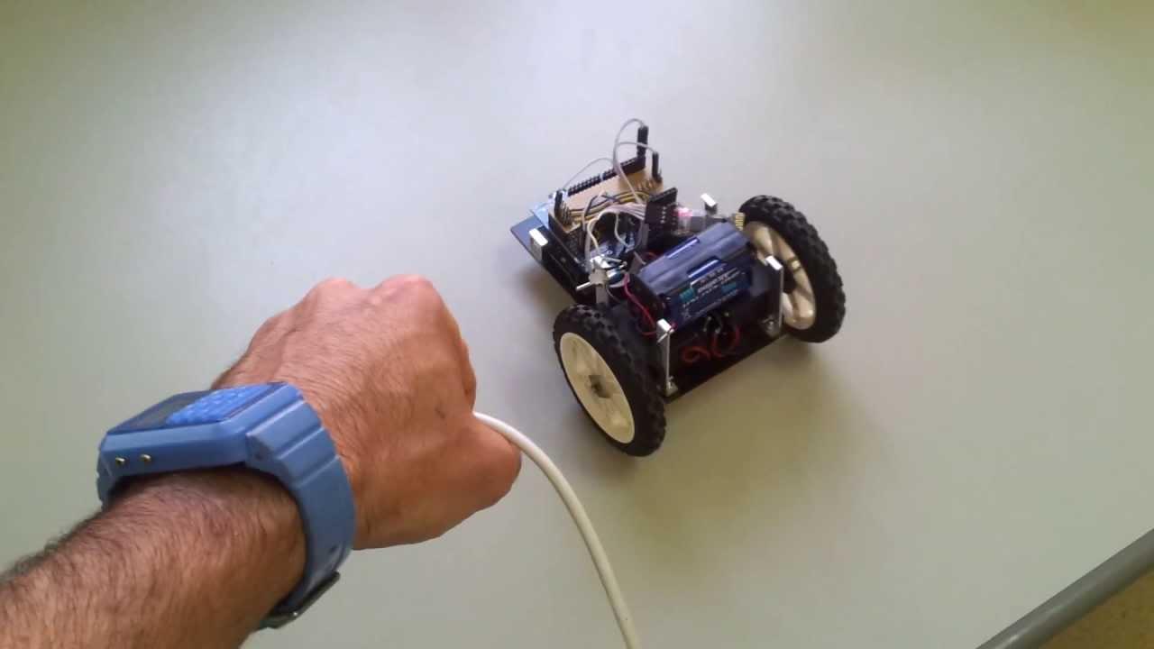 Arduino robot with motion sensor accelerometer youtube