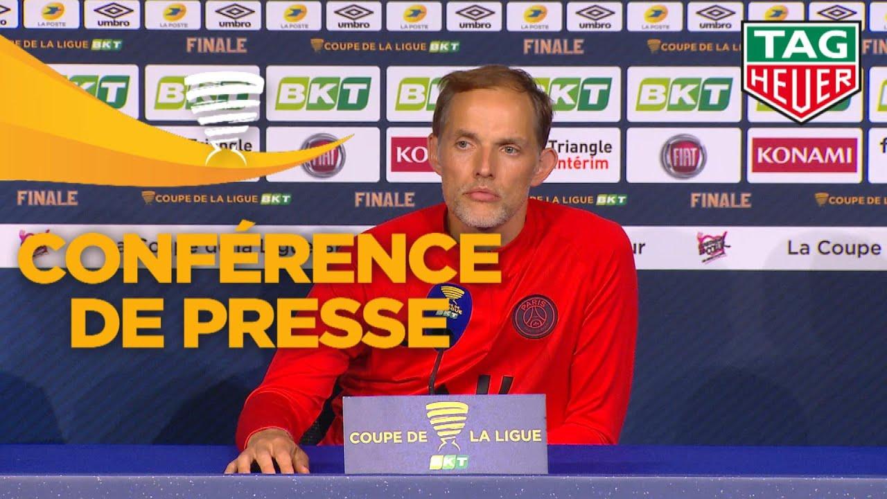 Conférence de presse Paris Saint-Germain - Olympique Lyonnais / Finale Coupe de la Ligue BKT 2020
