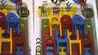 面白い おもちゃ ぐらぐらバランスチェアー 百円均一 youtube動画 百円...