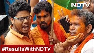 Election Results 2019: BJP Supporters Celebrate Outside Party Office In Kolkata