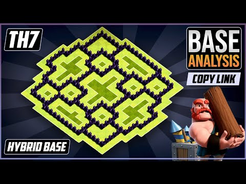 New Ultimate TH7 HYBRID/TROPHY[defense] Base 2020!!  Town Hall 7 Hybrid Base Design - Clash Of Clans