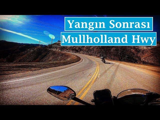 Yangın Sonrası Mullholland Highway ve Malibu Kanyon Yolu