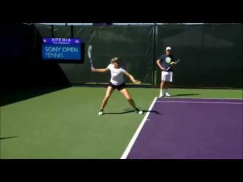 Maria Sharapova Slow Motion Ground Stroke Forehand Tennis Swing Wta Wimbledon Tips Drills Youtube
