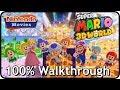 Super Mario 3D World - Full Game 100% Multiplayer Walkthrough, All Green Stars, All Stamps