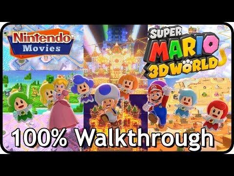 Super Mario 3D World - Full Game (100% Multiplayer Walkthrough)