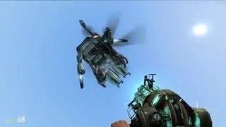 Garry's Mod-Не убиваемый вертолет,зомби с лазером,и прочие монстры