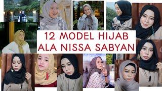 12 model hijab ala nissa sabyan cara berjilbab nissa sabyan