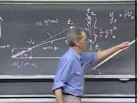 Lec 04: The Motion of Projectiles   8.01 Classical Mechanics, Fall 1999 (Walter Lewin)