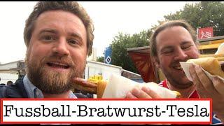 Fussball-Bratwurst-Tesla - mit Teslamour zum HSV!