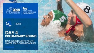 live        water polo   day 4   4th fina world men s youth water polo championships 2018