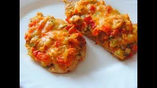 Очень вкусные куриные грудки с овощами под сырной корочкой.